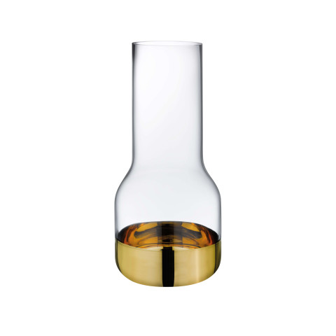 Contour Clear Top Gold Bottom Vase Small | Gracious Style