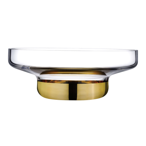 Contour Clear Top Gold Bottom Bowl Large | Gracious Style
