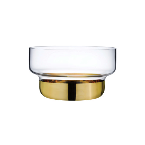 Contour Clear Top Gold Bottom Bowl | Gracious Style