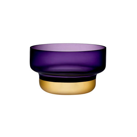 Contour Purple Top Gold Bottom Bowl | Gracious Style