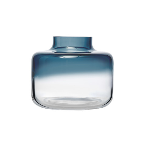 Magnolia Blue Top, Clear Bottom Vase Small | Gracious Style