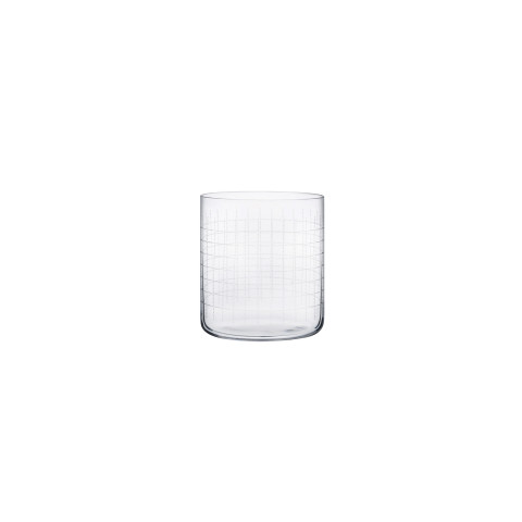 Finesse Grid  Whisky Glass, Set Of 4 | Gracious Style