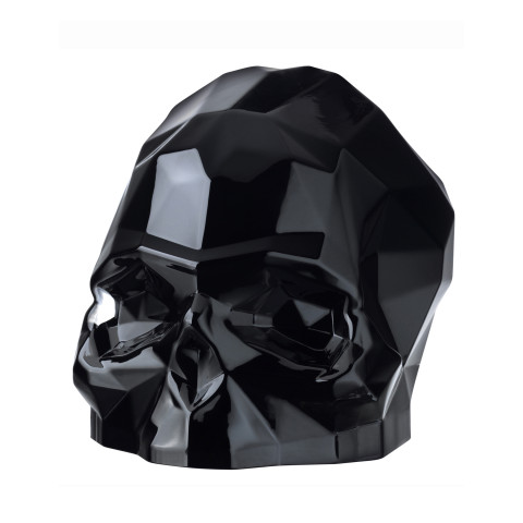Memento Mori Black Faceted Skull Large | Gracious Style
