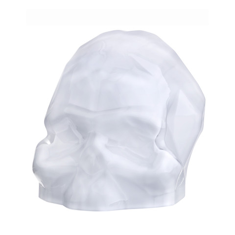 Memento Mori Opal White Faceted Skull Large | Gracious Style