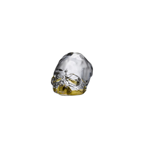 Memento Mori Bottom Gold Coating Faceted Skull Small | Gracious Style