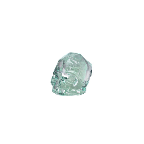 Memento Mori Luminous Green Faceted Skull Small | Gracious Style