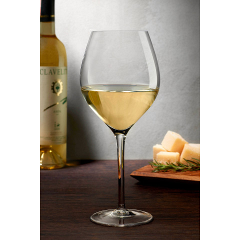 Caprice Clear White Wine Glass, Set Of 2 | Gracious Style