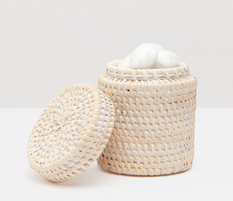 Dalton Whitewashed Canister Rd Rattan | Gracious Style