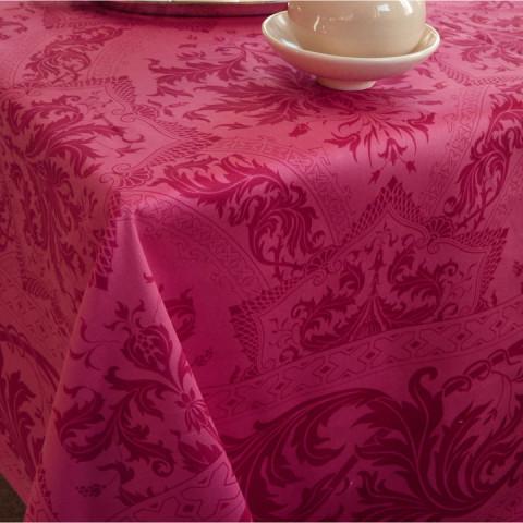 Topkapi Raspberry Print Table Linens | Gracious Style