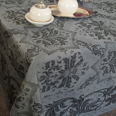 Topkapi Col.37 Anthracite 67 x 126 in Tablecloth | Gracious Style