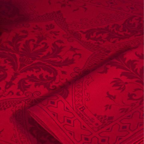 Topkapi Red Print Table Linens | Gracious Style