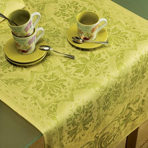 Topkapi Lime Lemon Print Table Linens | Gracious Style
