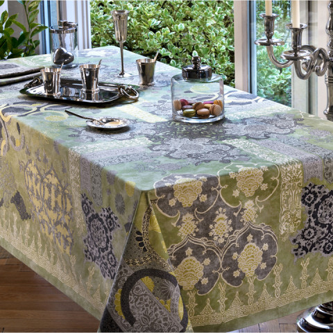 Rialto Col.17 Lovat Green 67 x 95 in Tablecloth | Gracious Style