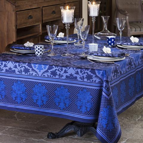 Toscane Blue Print Table Linens | Gracious Style