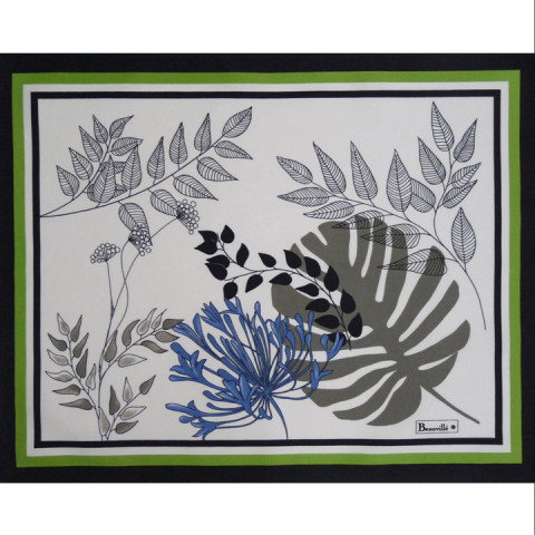 Agapanthes Col.1 Cotton 15 x 19 in Placemat | Gracious Style
