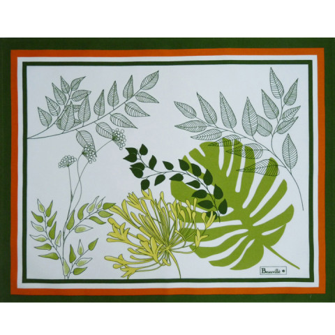 Agapanthes Col.3 Green 15 x 19 in Placemat | Gracious Style
