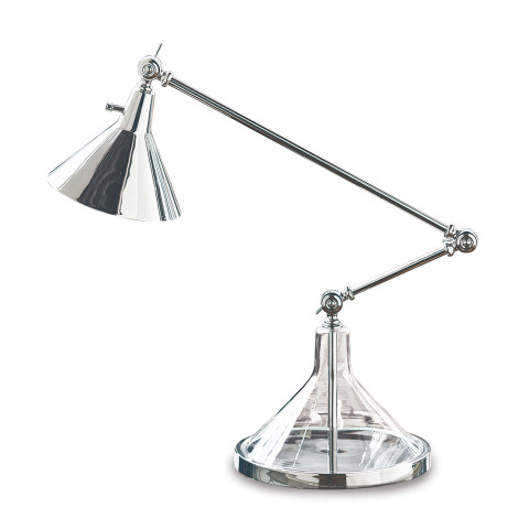 Glass Funnel Beaker Task Lamp, Polished Nickel | Gracious Style