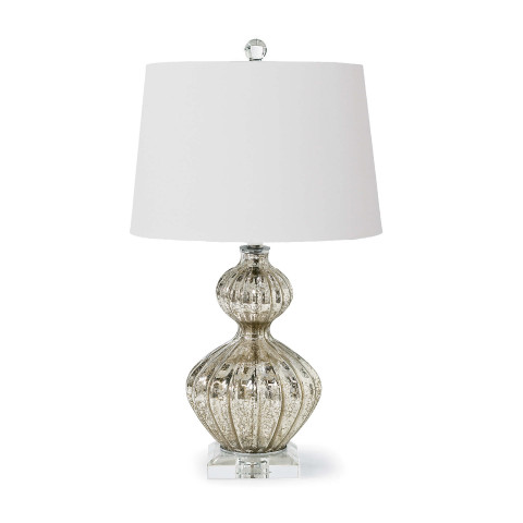 Ripple Table Lamp, Antique Mercury | Gracious Style