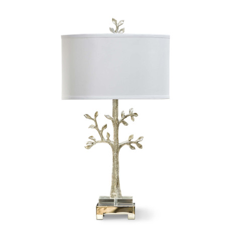 Modern Tree Table Lamp, Silver | Gracious Style
