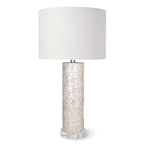 Scalloped Capiz Table Lamp | Gracious Style