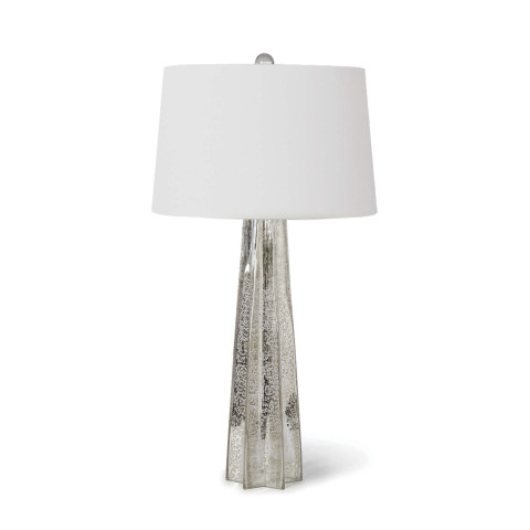 Glass Star Table Lamp, Antique Mercury | Gracious Style