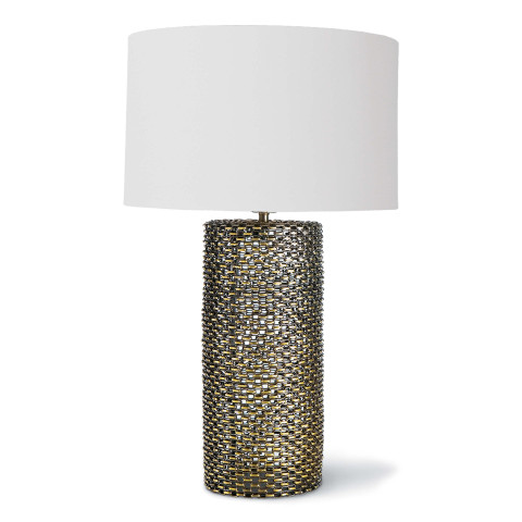 Chain Link Table Lamp, Antique Brass | Gracious Style