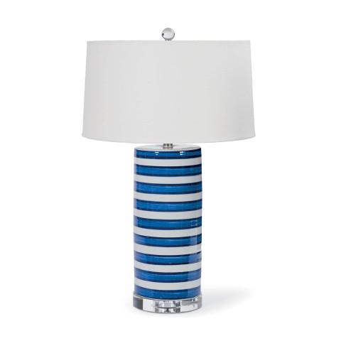 Striped Ceramic Column Table Lamp | Gracious Style
