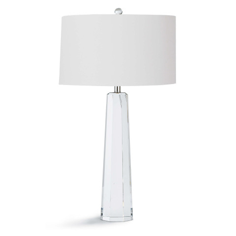 Tapered Hex Crystal Table Lamp | Gracious Style