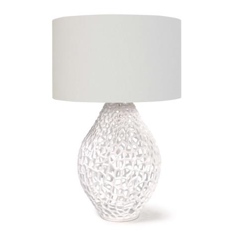 Jett Table Lamp, White   Gracious Style