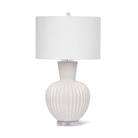 Madrid Ceramic Table Lamp, White   Gracious Style