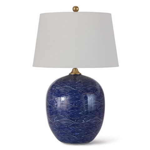 Harbor Ceramic Table Lamp, Blue | Gracious Style