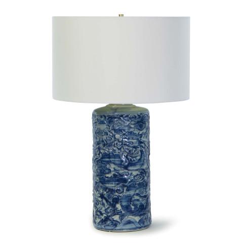 Zodiac Ceramic Table Lamp, Blue | Gracious Style