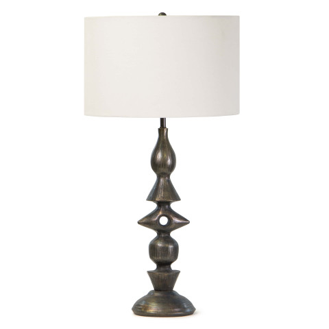 Totem Table Lamp, Blackened Zinc | Gracious Style