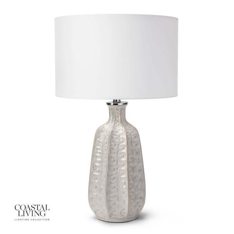 Antigua Ceramic Table Lamp, Ivory   Gracious Style