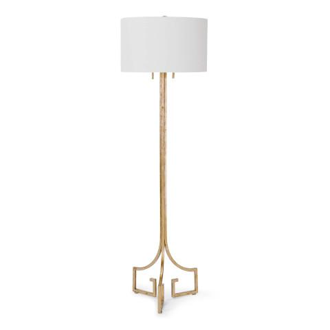 Le Chic Floor Lamp, Antique Gold Leaf | Gracious Style