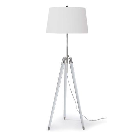 Brigitte Floor Lamp, Polished Nickel   Gracious Style
