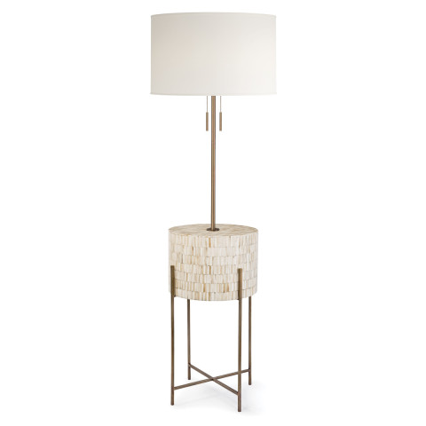 Resse Floor Lamp, Natural Brass | Gracious Style