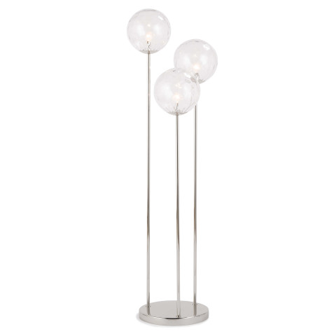 Rio Triple Floor Lamp, Polished Nickel | Gracious Style