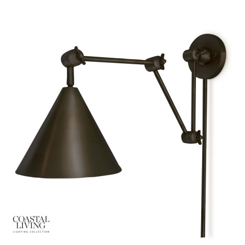 Zig-Zag Task Sconce, Oil Rubbed Bronze | Gracious Style