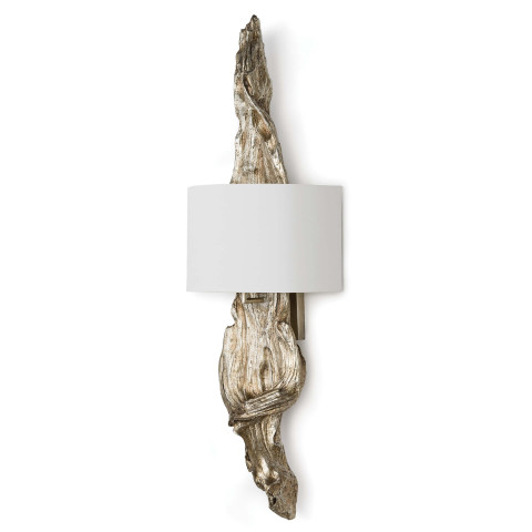 Driftwood Sconce, Ambered Silver Leaf | Gracious Style