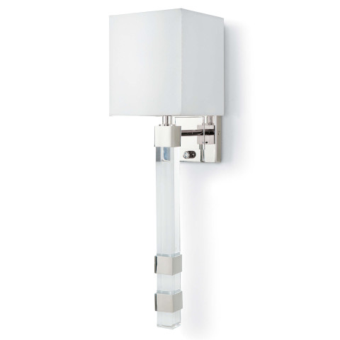 Metro Sconce, Polished Nickel | Gracious Style