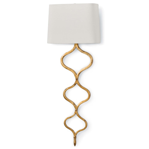 Sinuous Sconce, Gold Leaf | Gracious Style
