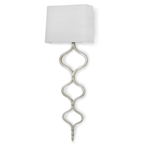 Sinuous Sconce, Silver Leaf | Gracious Style