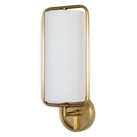 Geo Rectangle Sconce, Natural Brass | Gracious Style