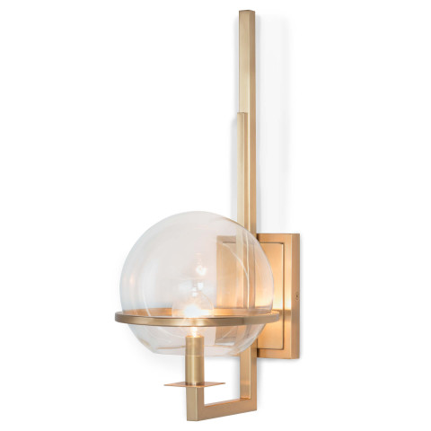 Saturn Sconce, Natural Brass | Gracious Style