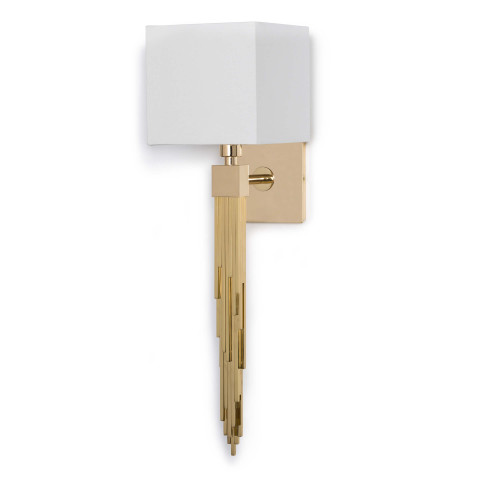 Tower Sconce, Polished Brass | Gracious Style