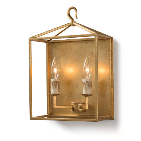 Cape Sconce, Antique Gold Leaf | Gracious Style
