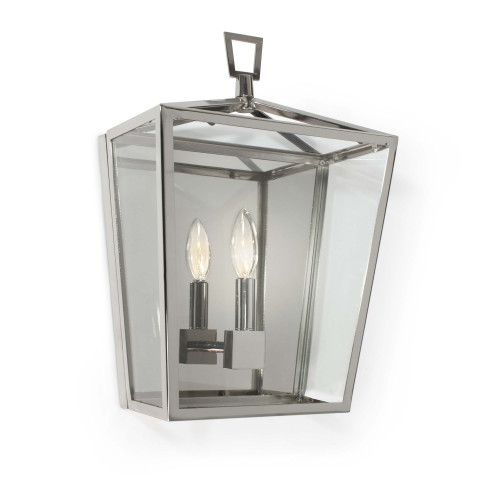 Camden Lantern Sconce, Polished Nickel | Gracious Style