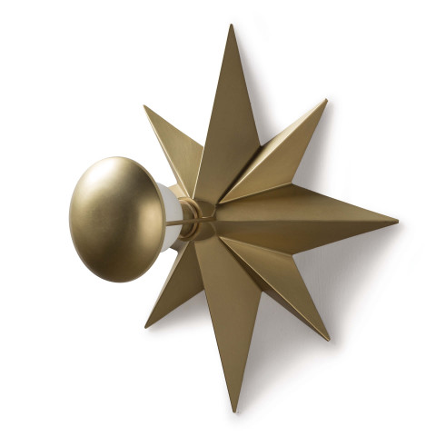 Hudson Sconce, Natural Brass | Gracious Style