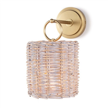 Nantucket Sconce, Natural Brass | Gracious Style